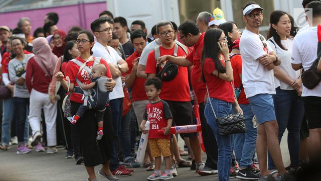 Jelang Final Bulu Tangkis Beregu Putra, Suporter Serbu Istora Senayan