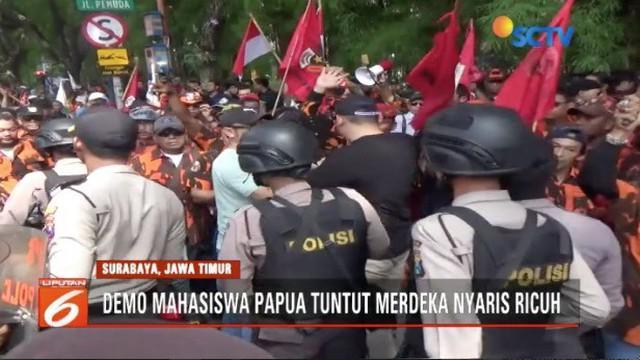 Demo menuntut kemerdekaan Papua oleh mahasiswa di sejumlah daerah berlangsung ricuh.