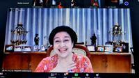 Ketua Umum PDI Perjuangan Megawati Soekarnoputri saat menghadiri webinar dengan penerima Kalpataru.(Foto: Dokumentasi PDIP).