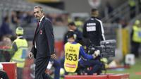 AC Milan resmi memecat Marco Giampaolo sebagai pelatih, Selasa (8/10/2019). (AP Photo/Antonio Calanni)
