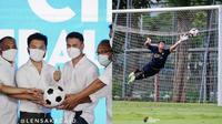 Jabat Chairman RANS Cilegon FC, Ini 6 Aksi Raffi Ahmad Jadi Kiper Selebritis FC (sumber: Instagram/raffinagita1717)