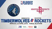 NBA Playoff 2018 Minnesota Timberwolves Vs Houston Rockets Game 3 (Bola.com/Adreanus Titus)