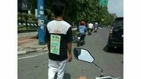Foto Herman Pria Penjual Ginjal beredar di akun instagram @plglipp membuat heboh warganet (Liputan6.com / ist - Nefri Inge)