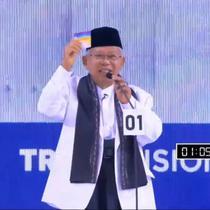Debat Cawapres 2019 antara Ma'ruf Amin dengan Sandiaga Uno. (Liputan6.com)