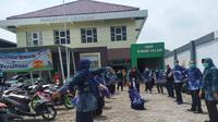 Aktivitas untuk melawan corona COVID-19 di puskesmas Menganti (Foto: Liputan6.com/Dian Kurniawan)
