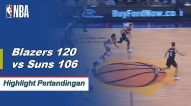 Damian Lillard memanas 24 poin saat Trail Blazers mengalahkan Suns pada Kamis malam, 120-106.