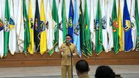Mendagri Tjahjo Kumolo saat melantik Plt Gubernur Aceh (Liputan6.com/Lizsa Egeham)