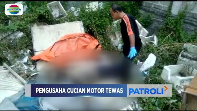 Warga temukan jenazah pemilik tempat pencucian motor di tumpukan sampah di Kalideres, Jakarta Barat.