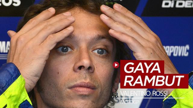 Berita video beragam gaya rambut yang ditampilkan bintang MotoGP, Valentino Rossi, dari masa ke masa.