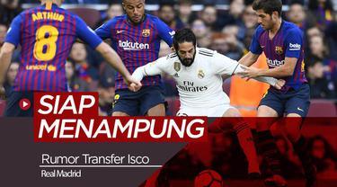 Berita video tentang Barcelona yang siap mendatangkan Isco jika Real Madrid menjualnya.