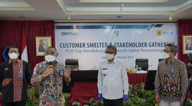 Direktur Bisnis Regional Sumatera dan Kalimantan, Muhammad Iqbal Nur, pada acara 'Customer Smelters dan Stakeholder Gathering' di Ruang Integritas, Kantor PLN Unit Induk Wilayah Kalbar, Rabu (23/6/2021).