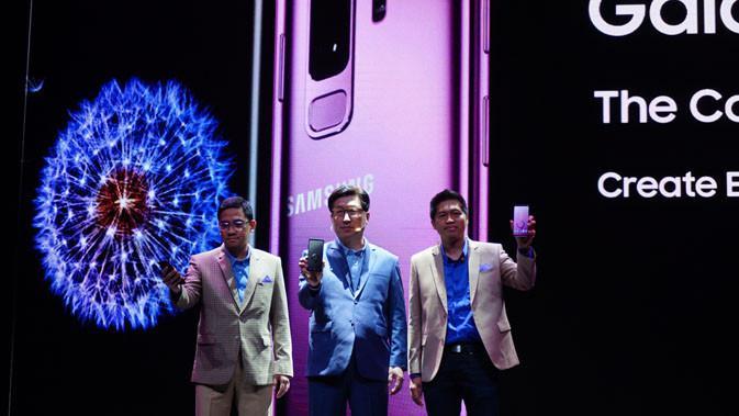 Peluncuran Galaxy S9 di Indonesia di Jakarta, Jumat (9/3/2018). Liputan6.com/ Agustin Setyo Wardani
