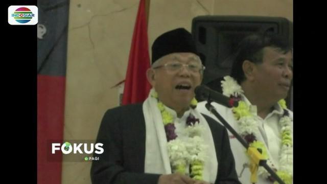 Ma'ruf Amin mendapat dukungan dari ribuan relawan Barisan Nusantara di Cimahi, Jawa Barat.