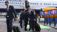 Para pemain Timnas Islandia tiba di Prancis untuk menghadapi putaran final Piala Eropa 2016. (UEFA)