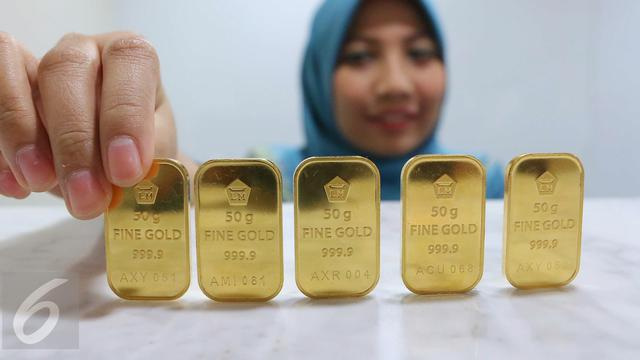 Awali Perdagangan 2018 Harga Emas Antam Naik Rp 2000 Per Gram