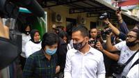 Artis FTV inisial HH di Mapolrestabes Medan (Foto: Reza Efendi)