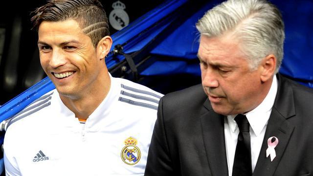 Cristiano Ronaldo dan Carlo Ancelotti
