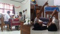 Kelakuan Nyeleneh Siswa Saat di Dalam Kelas (sumber: Brilio)