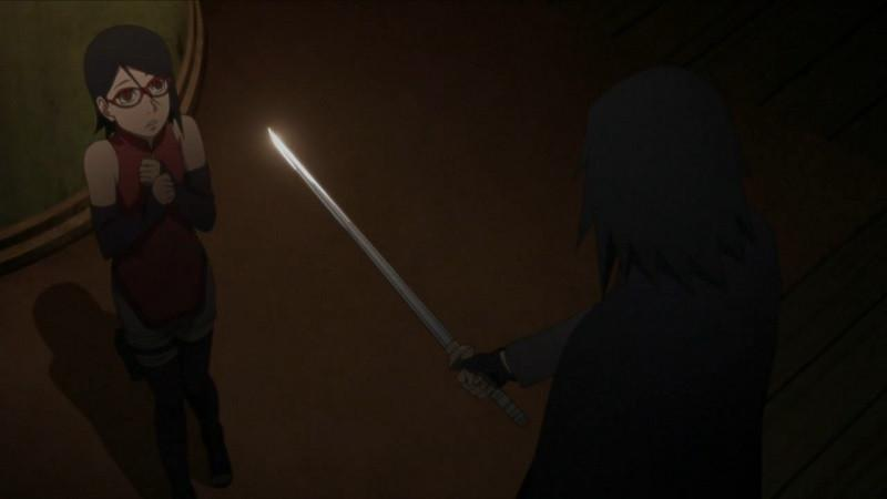 Sasuke dan Sarada di anime Boruto. (Pierrot)