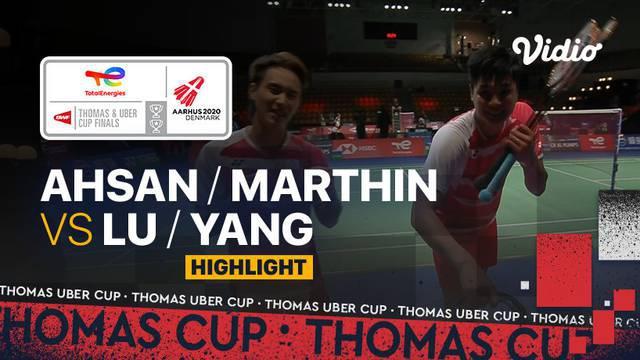 Berita video highlights pertandingan keempat Indonesia vs Chinese Taipei Grup A Piala Thomas 2020, di mana ganda putra Mohammad Ahsan / Daniel Marthin menelan kekalahan, Rabu (13/10/2021) sore hari WIB.