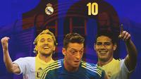 Real Madrid - Luka Modric, Mesut Ozil, James Rodriguez (Bola.com/Adreanus Titus)