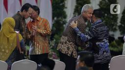 Gubernur Jawa Tengah, Ganjar Pranowo menghadiri  peringatan Hari Anti Korupsi Dunia (Hakordia) 2019 di Gedung Penunjang KPK, Jakarta, Senin (9/12/2019). KPK kembali menggelar Hari Antikorupsi Sedunia yang jatuh setiap 9 Desember. (Liputan6.com/Faizal Fanani)