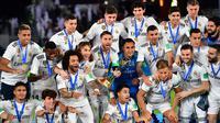1. Real Madrid – Real Madrid dikenal memiliki lini tengah yang berkualitas. Trio Casemiro, Luka Modric dan Toni Kroos membuat kualitas lini tengah Real Madrid terjaga. (AFP/Giuseppe Cacace)