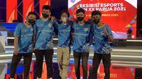 Kalimantan Barat juara Mobile Legends di PON XX Papua. (Liputan6.com/ Yuslianson)