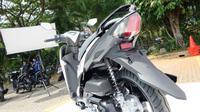 Tampak belakang Yamaha Mio S terlihat sporty. (Septian/Liputan6.com)