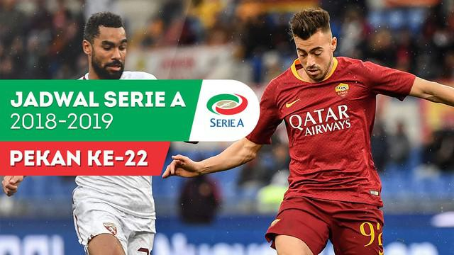 Berita video jadwal Serie A 2018-2019 pekan ke-22. Big match AS Roma vs AC Milan yang akan dilaksanakan Senin (4/2/2019) di Stadion Olimpico, Roma.