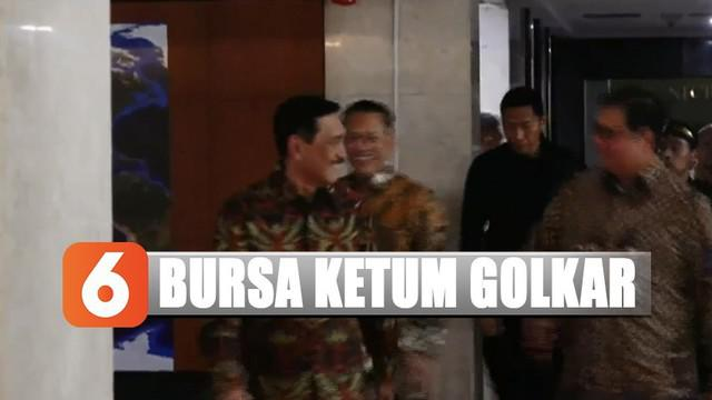 Mundurnya Bambang Soesatyo dari pencalonan disaksikan senior-seniornya, Aburizal Bakrie dan Luhut Binsar Panjaitan.