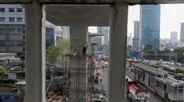 Progres Pembangunan LRT Rute Cawang-Dukuh Atas