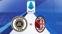 Serie A - Spezia Vs AC Milan (Bola.com/Adreanus Titus)