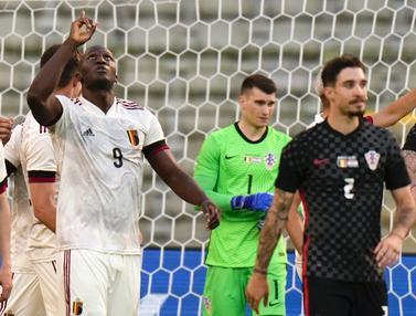 Foto Piala Eropa: Kurang Oke dalam Penyelesaian Akhir, Belgia Cuma menang Tipis 1-0 atas Kroasia dalam Laga Uji Coba Jelang Euro 2020