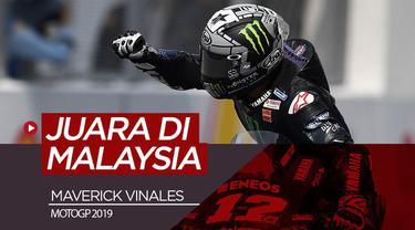 Berita video Maverick Vinales menjadi juara di Sepang, Malaysia dan rekan setimnya, Valentino Rossi, menduduki posisi ke-4 pada seri balapan ke-18 di MotoGP 2019, Minggu (3/11/2019).