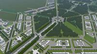 Maket Ibu Kota baru (dok Kementerian PUPR)