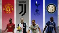 Ilustrasi Pemain - Marcus Rashford, Cristiano Ronaldo, Harry Kane, Romelu Lukaku (Bola.com/Adreanus Titus)