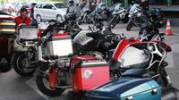 Komunitas Motor Gede FOC saat tiba di salah satu Hotel di Kota Gorontalo. (Arfandi)
