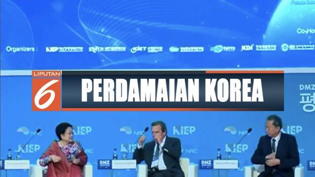 Hadiri forum perdamaian di Seoul, Korea Selatan, Megawati Soekarnoputri tawarkan ideologi Pancasila untuk perdamaian Semenanjung Korea.