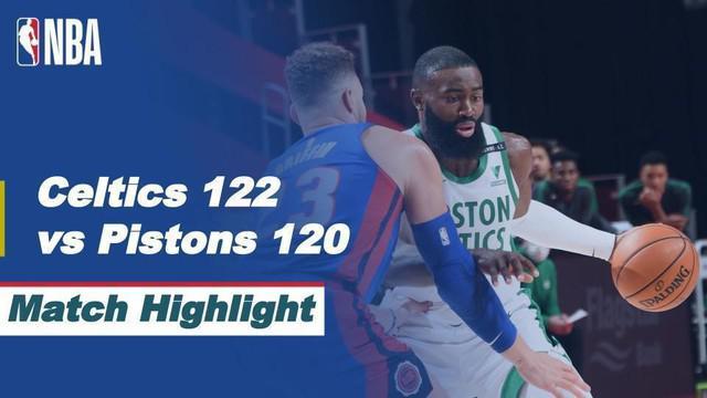 Berita Video Boston Celtics raih kemenangan tipis atas Detroit Pistons
