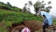 Temuan artefak diduga kaki candi di Dieng Kulon, Batur, Banjarnegara, Jawa Tengah. (Foto: Liputan6.com/Aryadi Darwanto untuk Muhamad Ridlo)