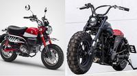 Perubahan motor kecil Honda Monkey menjadi bobber