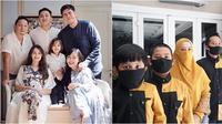 Potret keluarga seleb rayakan lebaran di rumah. (sumber: Instagram/ringgoagus dan Instagram/dennycagur)
