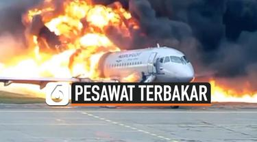 pesawat terbakar