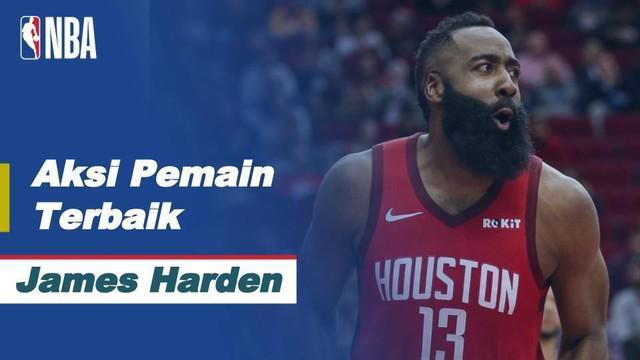 Berita video aksi-aksi terbaik dari bintang Houston Rockets, James Harden, dalam laga NBA hari ini, Jumat (1/1/2021) pagi hari WIB.
