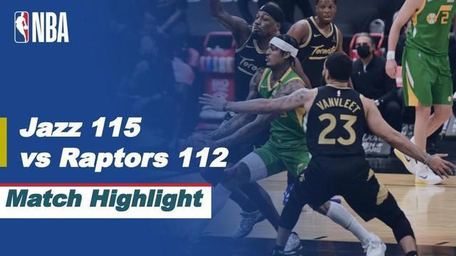 Berita video highlights pertandingan seru NBA 2020/2021 antara Toronto Raptors melawan Utah Jazz yang berakhir dengan skor 112-115, Sabtu (20/3/2021) pagi hari WIB.