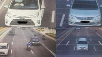 Kamera ETLE bisa melihat kondisi pengemudi dan penumpang depan (Twitter/TMC Polda Metro Jaya)