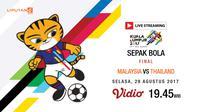 Banner Livestreaming Sepak Bola sea games 2017