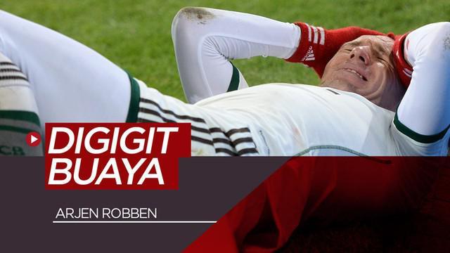 Berita video kisah Arjen Robben yang pernah dikabarkan mengalami cedera di bagian tangan karena digigit buaya di Qatar. Benarkah kabar tersebut?