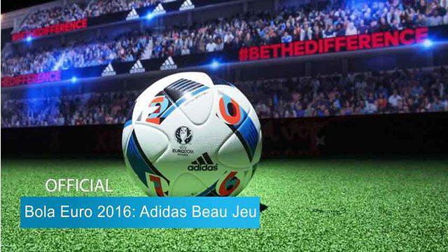 "Adidas selaku sponsor Euro 2016 baru saja merilis ""Beau Jeu"" sebagai bola resmi Piala Eropa 2016. Jika diartikan ke dalam bahasa indonesia ""Beau Jeu"" memiliki arti Permainan Indah."